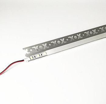 Алюминиевый световой профиль встраиваемый для подсветки в комплекте с рассеивателем  (HC-124 33х13мм 3M)