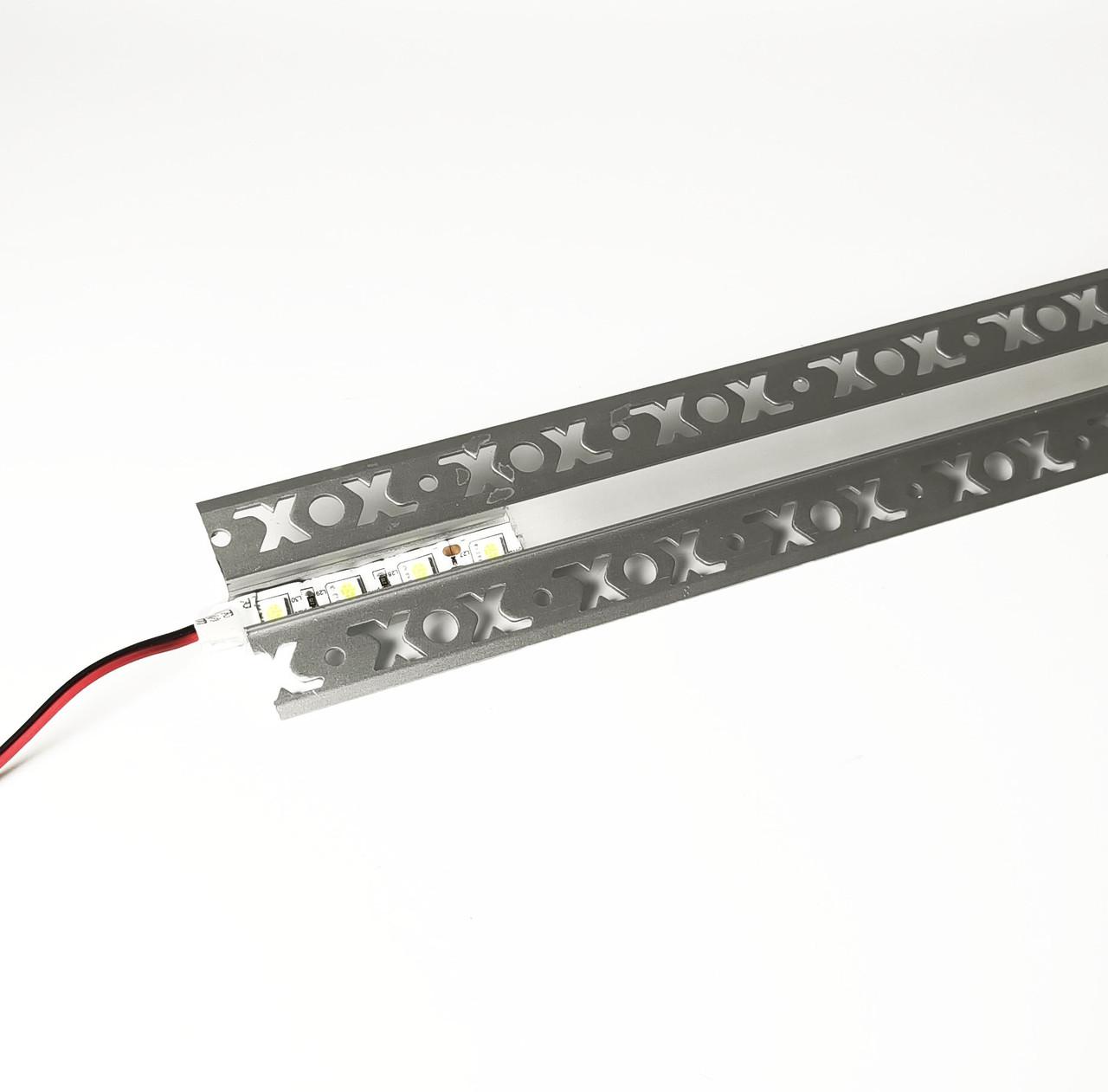 Алюминиевый профиль для подсветки в комплекте с рассеивателем  (HC-125 53х15 3M)