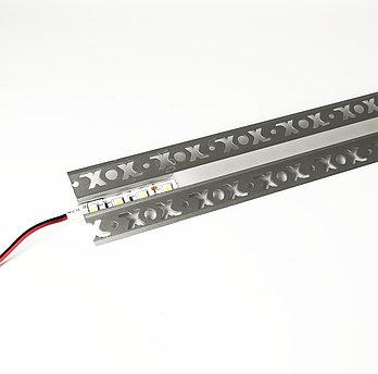 Алюминиевый профиль для подсветки в комплекте с рассеивателем  (HC-125 53х15мм 3M)