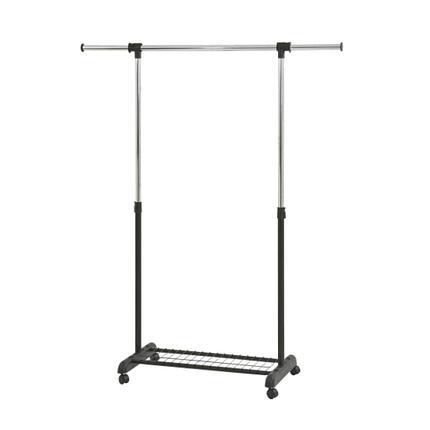 Вешалка для одежды гардеробная EP8607R черный цвет одинарная раздвижная, фото 2