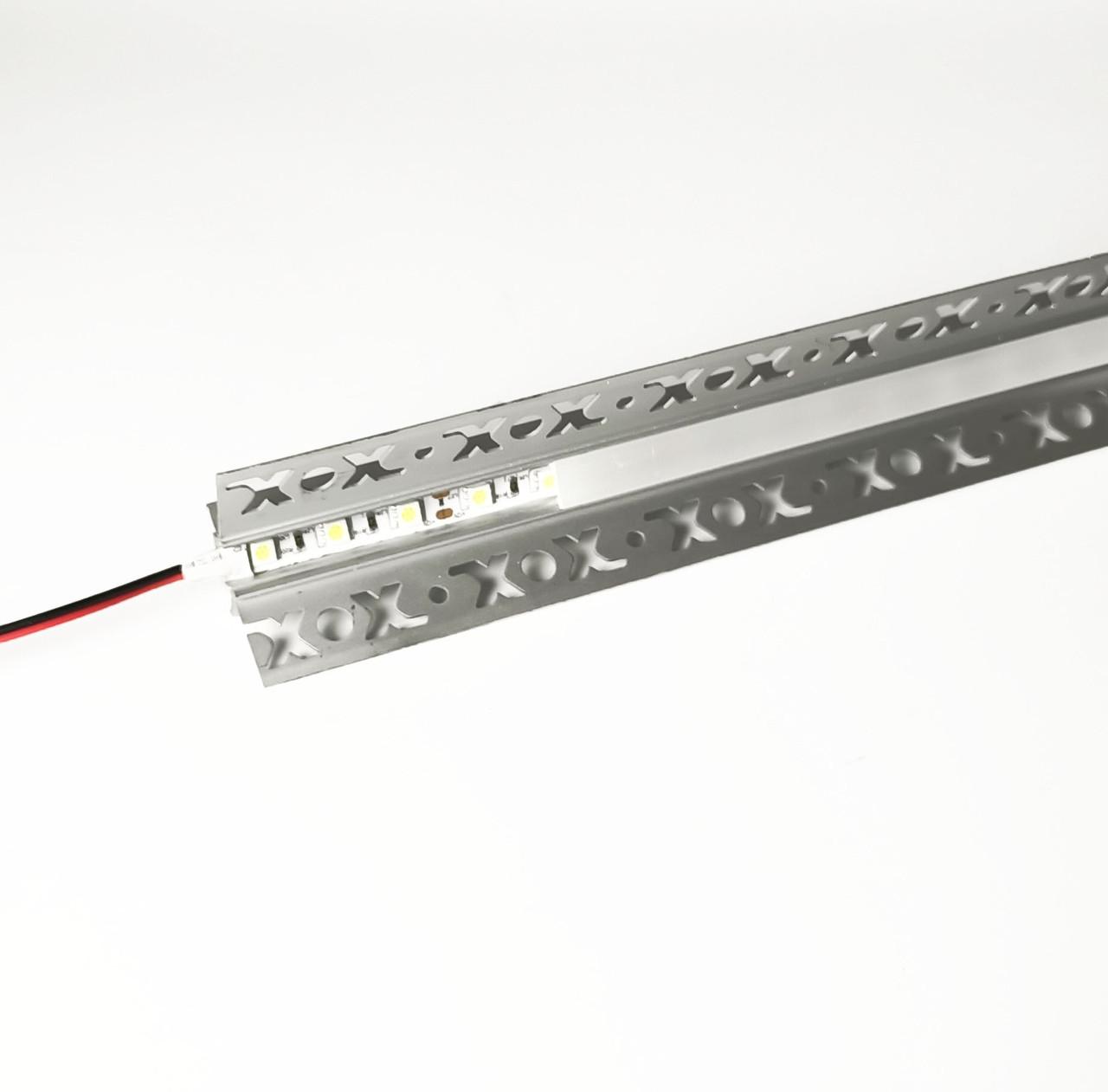 Алюминиевый профиль для подсветки в комплекте с рассеивателем  (HC-127 46х24 3M)