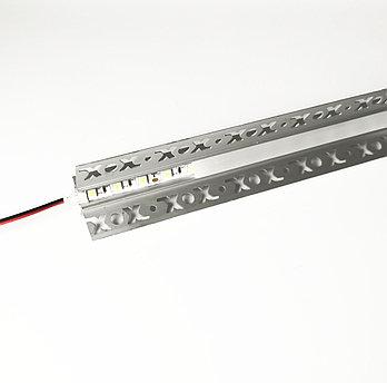 Алюминиевый профиль для подсветки в комплекте с рассеивателем  (HC-127 46х24мм 3M)