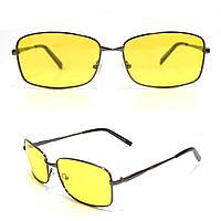 Солнцезащитные поляризационные очки ПОЛАРОИД UV400 тонкая оправа желтые стекла АВТО PX16116