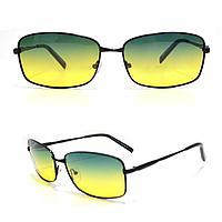 Солнцезащитные поляризационные очки ПОЛАРОИД UV400 тонкая оправа желто зеленые стекла АВТО PX16116