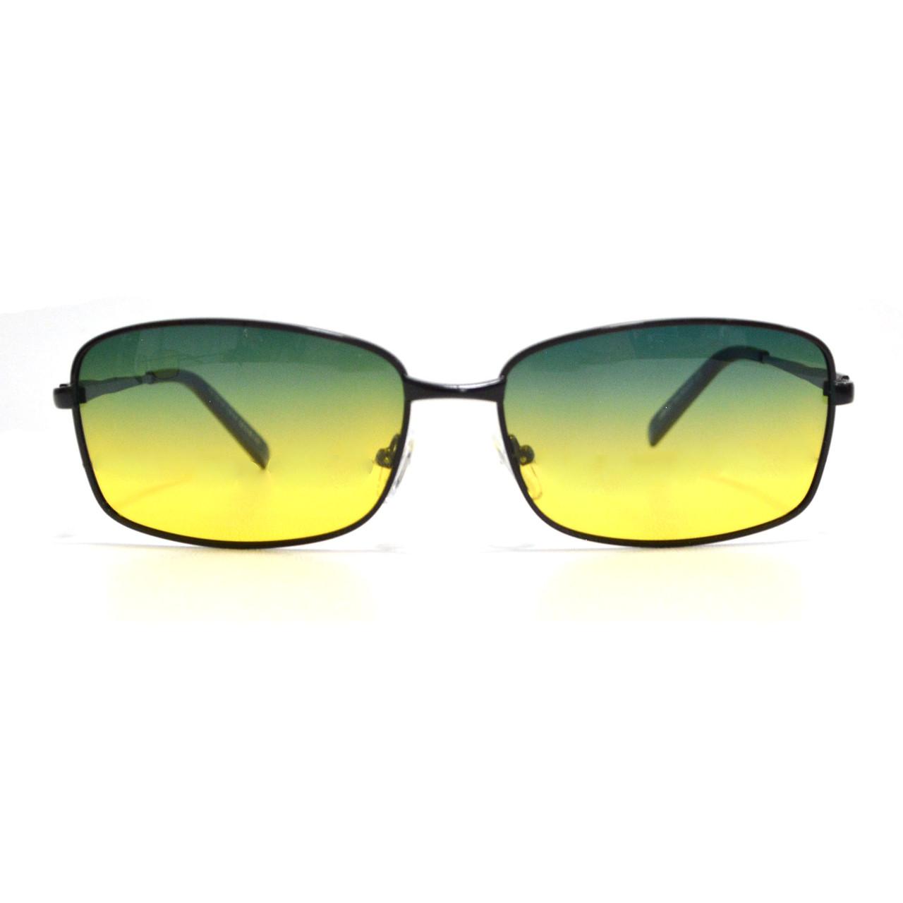 Солнцезащитные поляризационные очки ПОЛАРОИД UV400 тонкая оправа желто зеленые стекла АВТО PX16116 - фото 7