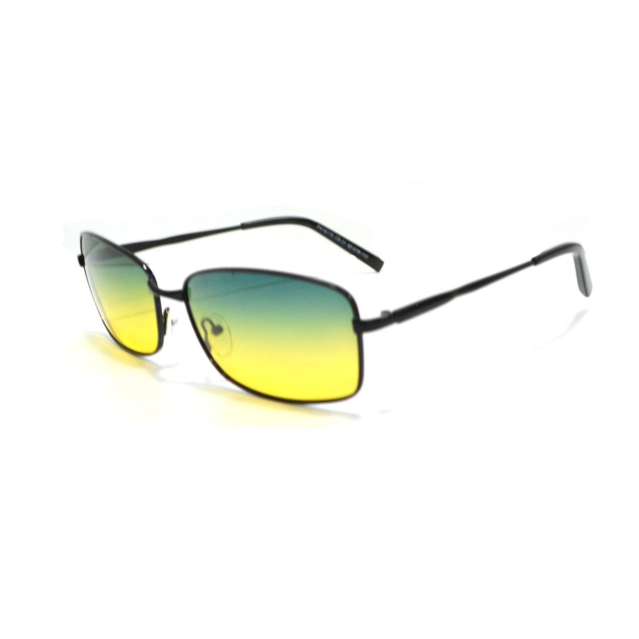 Солнцезащитные поляризационные очки ПОЛАРОИД UV400 тонкая оправа желто зеленые стекла АВТО PX16116 - фото 4