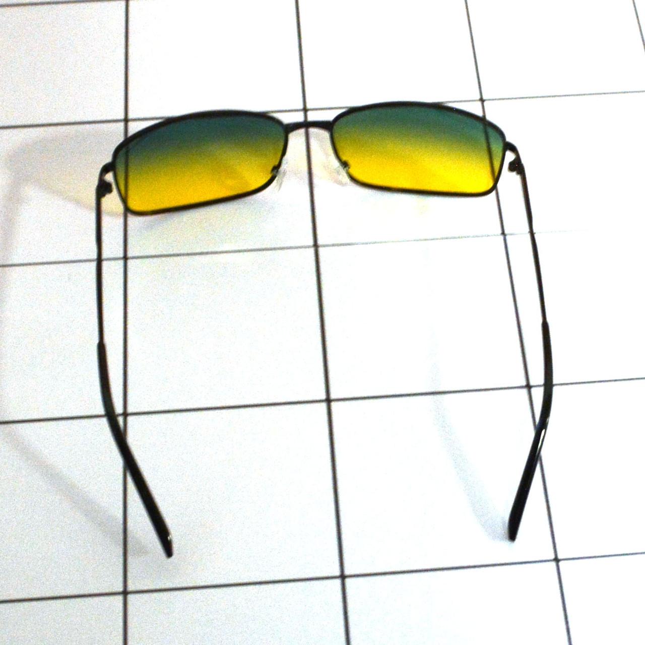 Солнцезащитные поляризационные очки ПОЛАРОИД UV400 тонкая оправа желто зеленые стекла АВТО PX16116 - фото 5