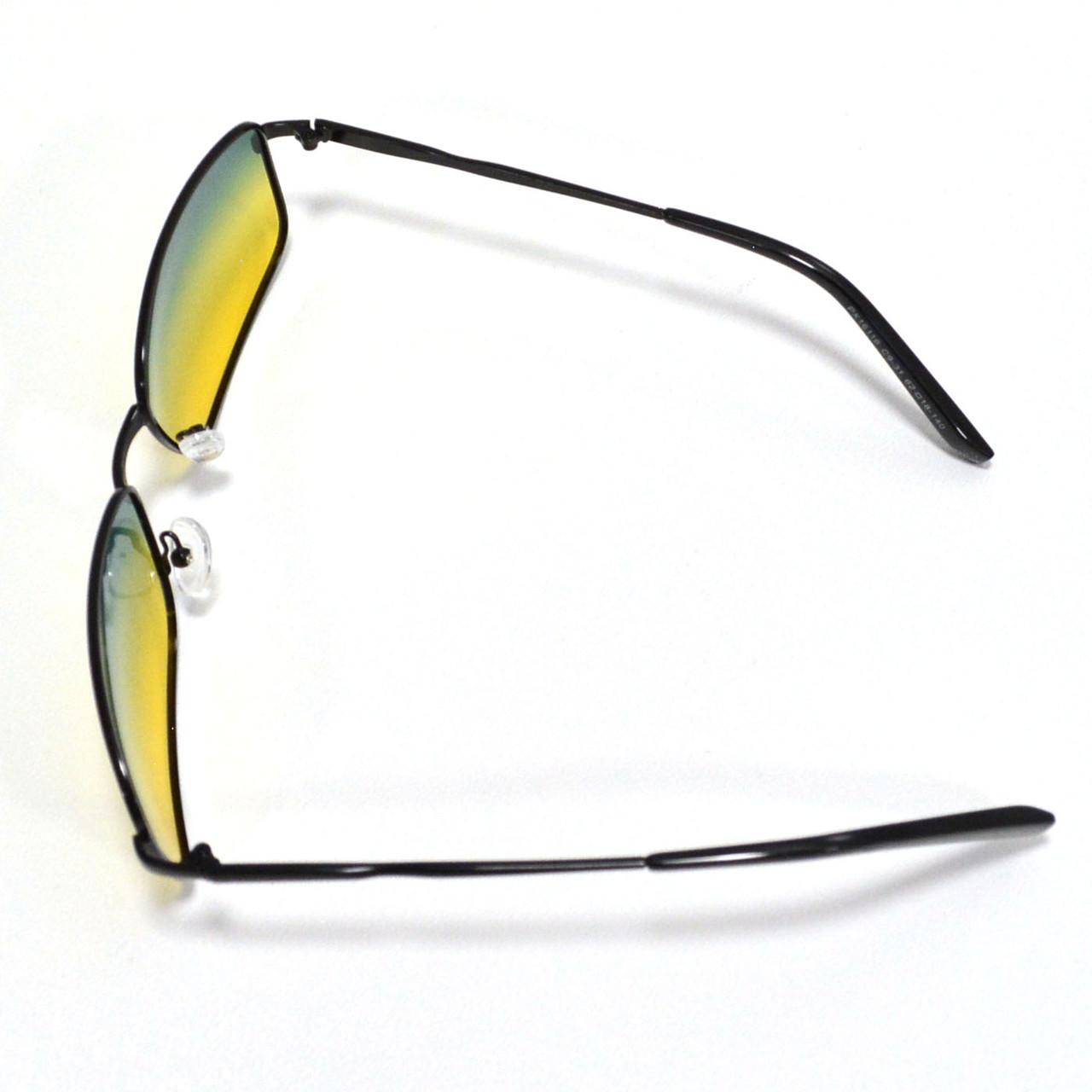 Солнцезащитные поляризационные очки ПОЛАРОИД UV400 тонкая оправа желто зеленые стекла АВТО PX16116 - фото 9