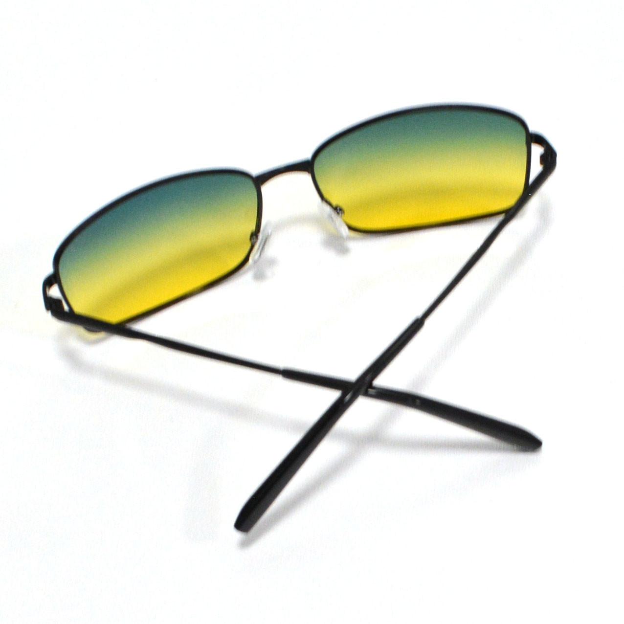 Солнцезащитные поляризационные очки ПОЛАРОИД UV400 тонкая оправа желто зеленые стекла АВТО PX16116 - фото 8