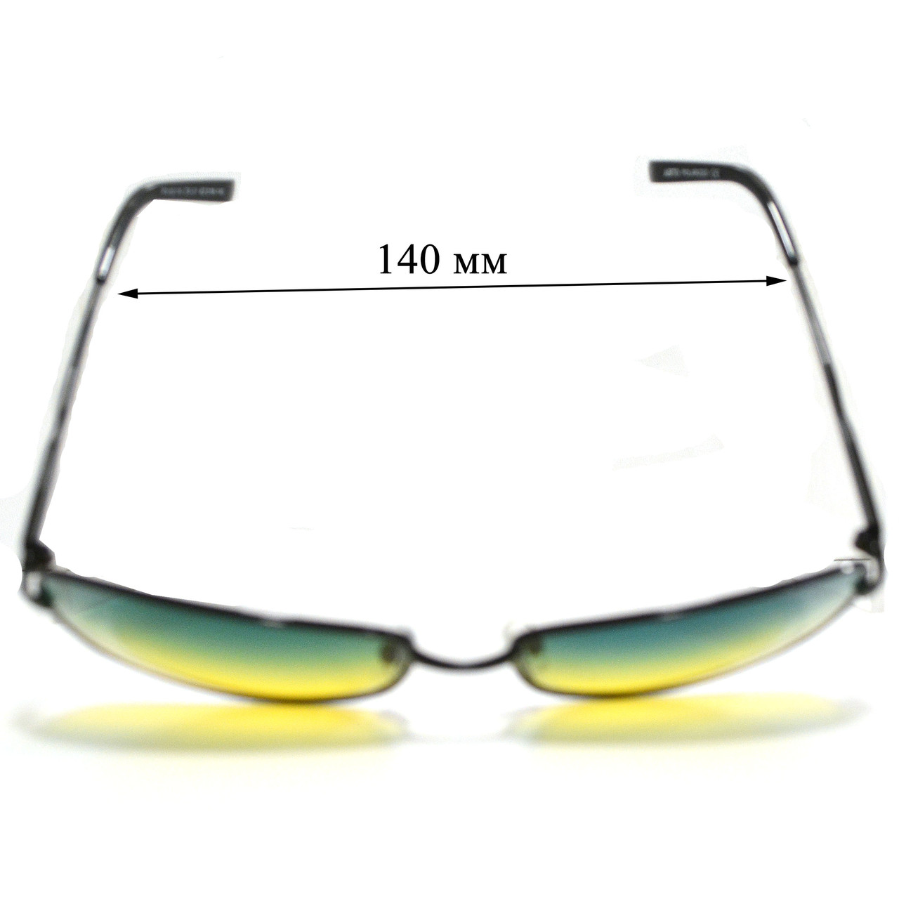 Солнцезащитные поляризационные очки ПОЛАРОИД UV400 тонкая оправа желто зеленые стекла АВТО PX16116 - фото 3