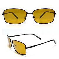 Солнцезащитные поляризационные очки ПОЛАРОИД UV400 тонкая оправа коричневые стекла АВТО PX16116