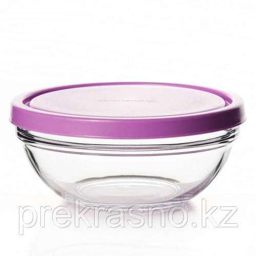 Чашка косметологическая 17см стекло с крышкой