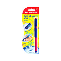 Ручка шариковая ErichKrause ErgoLine Kids 0.7, Ultra Glide, цвет чернил синий