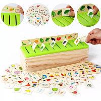 Развивающая игра Сортер ( деревянный комодик, классификатор)
