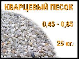 Кварцевый песок для фильтра бассейна 25 кг. (фракция 0,45-0,85 мм)
