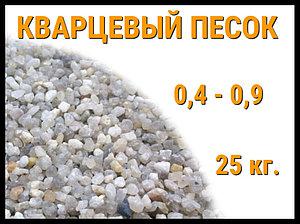 Кварцевый песок для фильтра бассейна 25 кг. (фракция 0,4-0,9 мм)