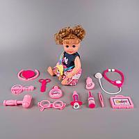 Игровой набор кукла и набор доктора Baby 12 предметов