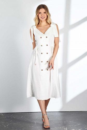 Платье Владини (белый лен)