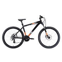 """Велосипед Stark'20 Shooter-1 чёрный/белый/оранжевый 18"""""""