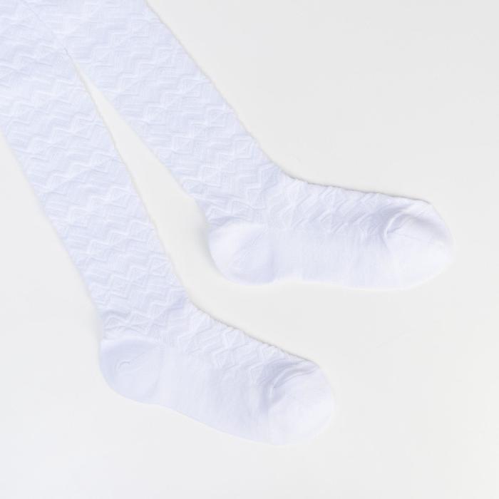 Колготки детские ажурные 2ФС73-008, цвет белый, рост 122-128 см - фото 4