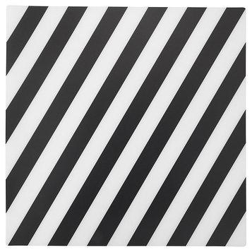 Салфетка под приборы ПИПИГ, в полоску, черный/белый