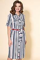 Женское летнее хлопковое синее платье DaLi 3459х 44р.