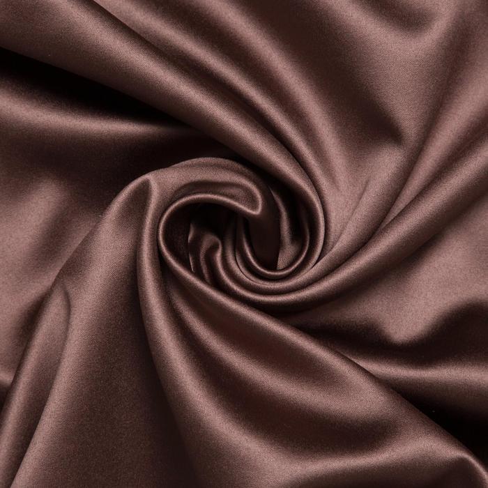 Штора портьерная «Этель» 250×265 см, двусторонний блэкаут, цвет Шоколад, пл. 240 г/м², 100% п/э