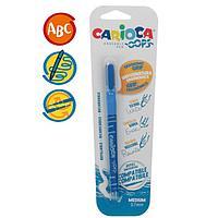 """Ручка капиллярная стираемая Carioca """"OOPS"""", узел 0,7 мм, чернила синие, резиновый держатель, блистер"""