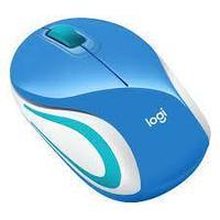 Мышь Logitech M187 [910-002733], Синий белый