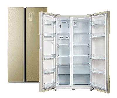 Холодильник Бирюса SBS 587 GG (бежевое стекло)