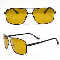 Солнцезащитные поляризационные очки ПОЛАРОИД UV400 тонкая сдвоенная оправа коричневые стекла АВТО PX16119