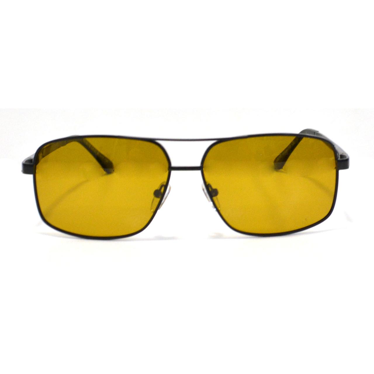 Солнцезащитные поляризационные очки ПОЛАРОИД UV400 тонкая сдвоенная оправа коричневые стекла АВТО PX16119 - фото 5