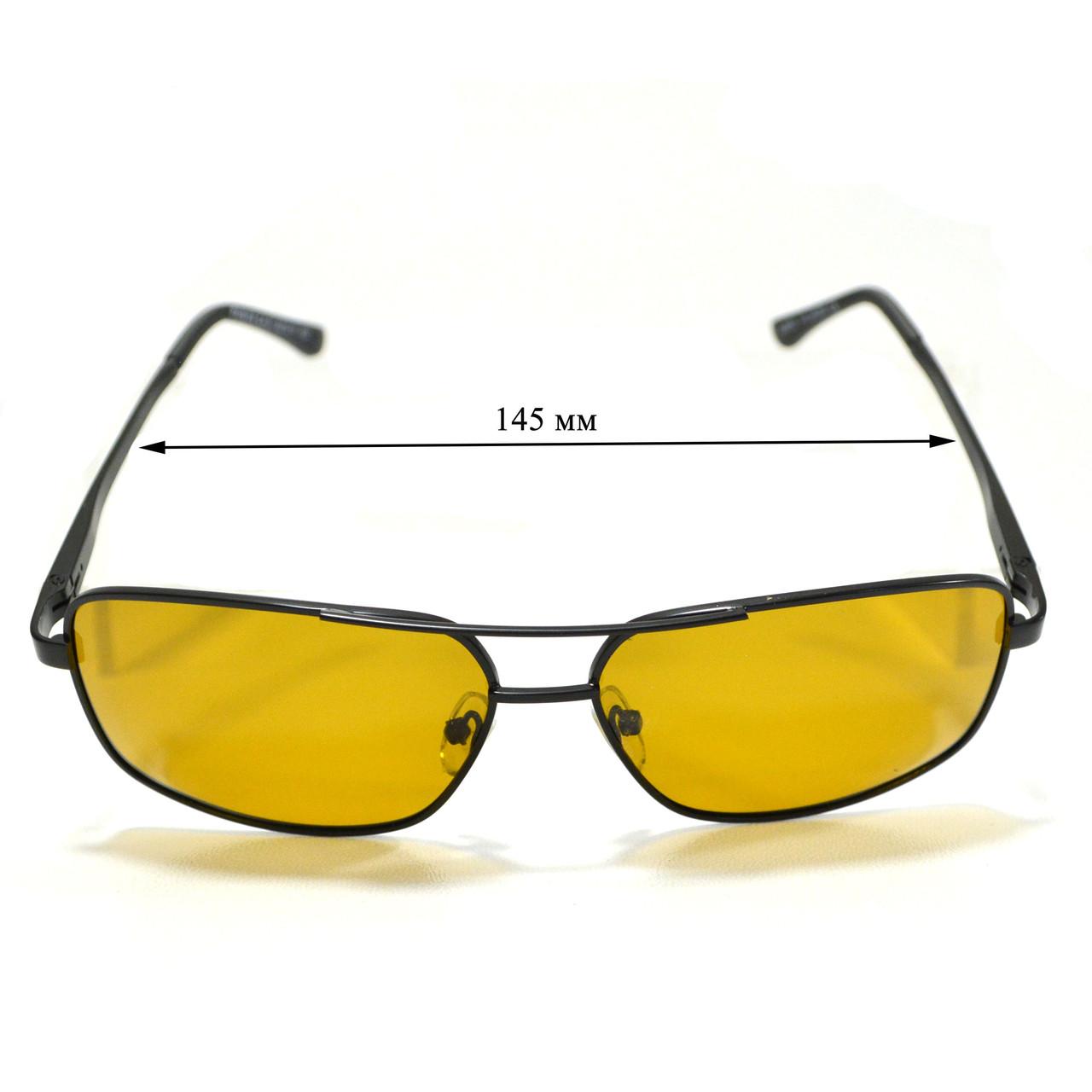 Солнцезащитные поляризационные очки ПОЛАРОИД UV400 тонкая сдвоенная оправа коричневые стекла АВТО PX16119 - фото 3