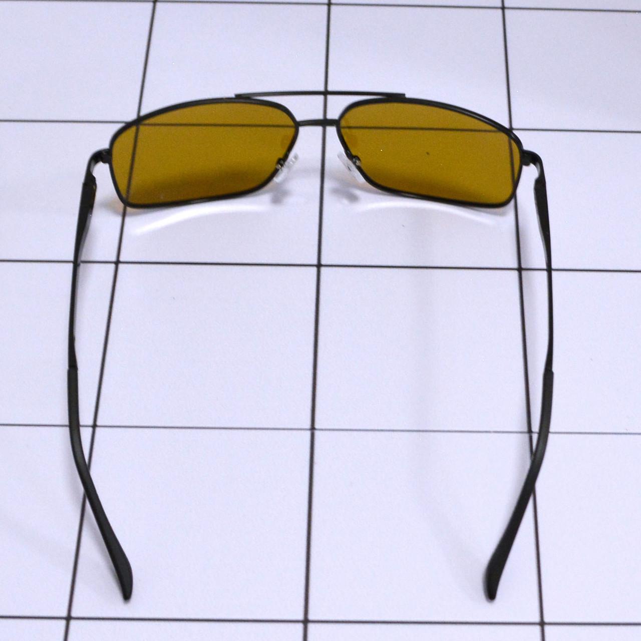 Солнцезащитные поляризационные очки ПОЛАРОИД UV400 тонкая сдвоенная оправа коричневые стекла АВТО PX16119 - фото 6