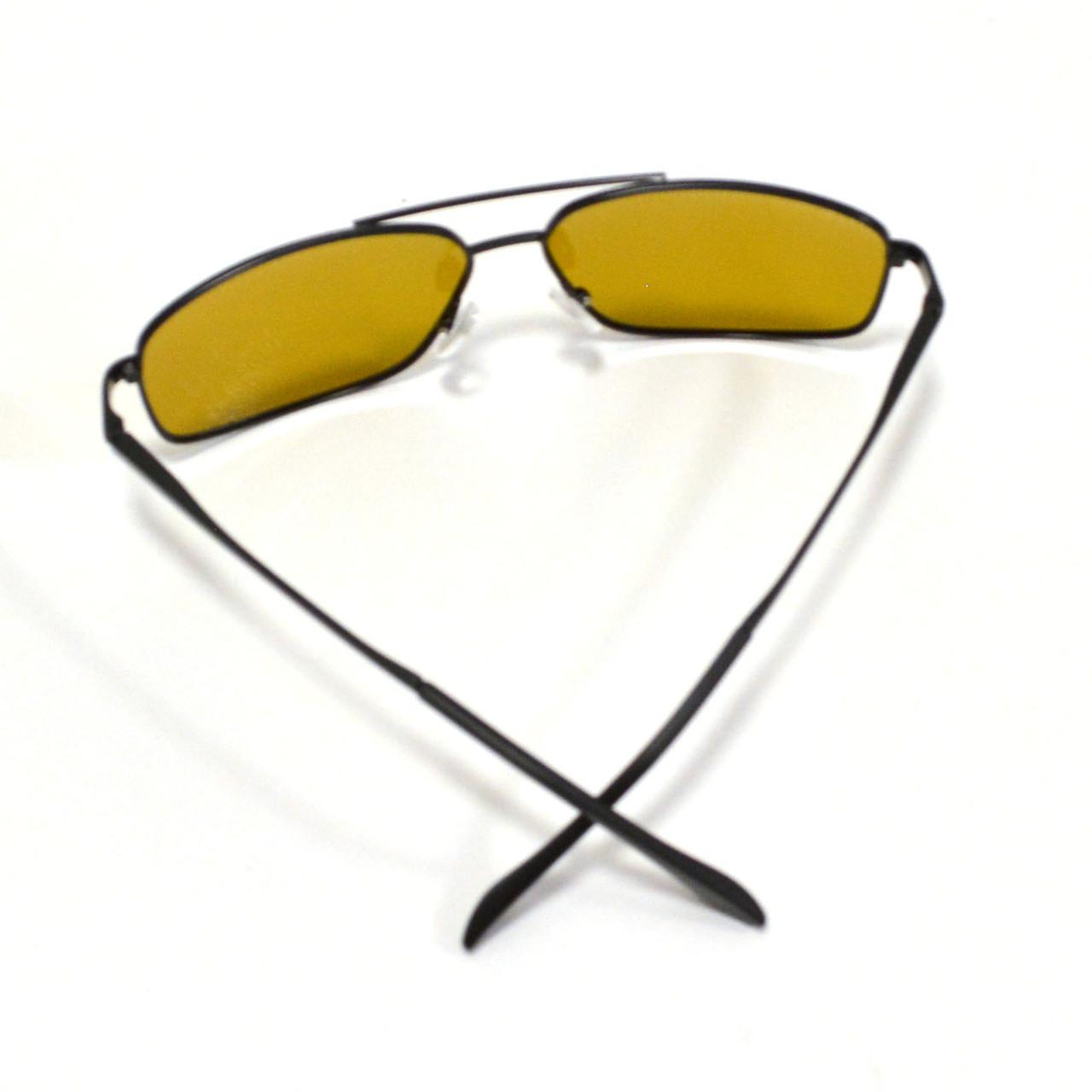 Солнцезащитные поляризационные очки ПОЛАРОИД UV400 тонкая сдвоенная оправа коричневые стекла АВТО PX16119 - фото 7