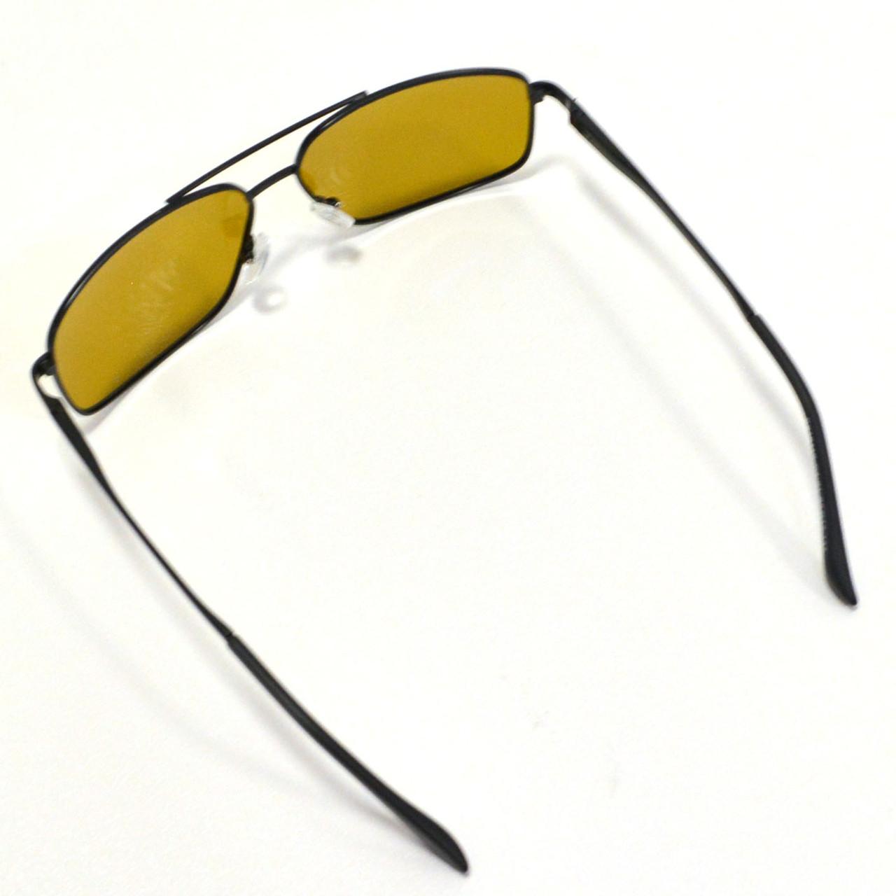 Солнцезащитные поляризационные очки ПОЛАРОИД UV400 тонкая сдвоенная оправа коричневые стекла АВТО PX16119 - фото 10