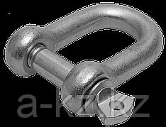 Скоба такелажная, 12мм, 8 шт, тип прямой, оцинкованная, ЗУБР