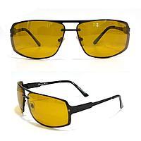 Солнцезащитные поляризационные очки ПОЛАРОИД тонкая сдвоенная оправа коричневые стекла Machete PG08297