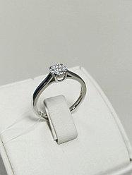 Кольцо с бриллиантами / 17 размер