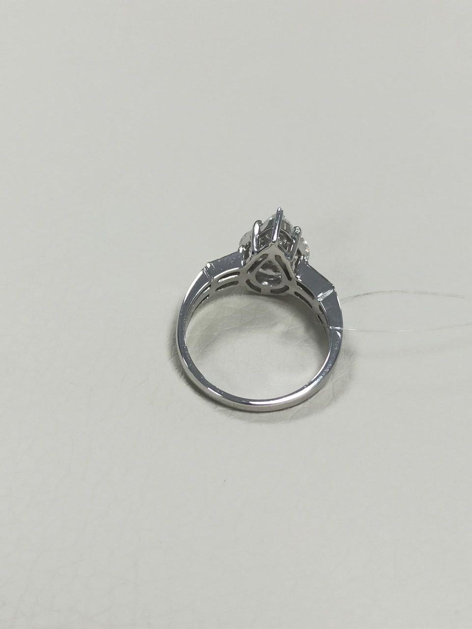 Кольцо с бриллиантами / 17 размер - фото 4