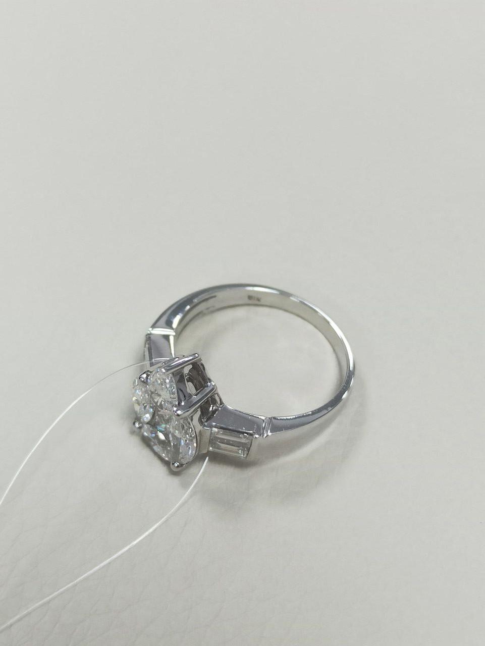 Кольцо с бриллиантами / 17 размер - фото 3