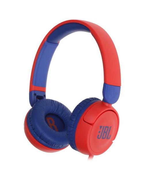 Гарнитура накладные JBL JR 310 проводные 1м, красный/синий (JBLJR310RED)