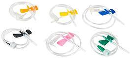 Система 23G для вливания в малые вены с иглой-бабочкой