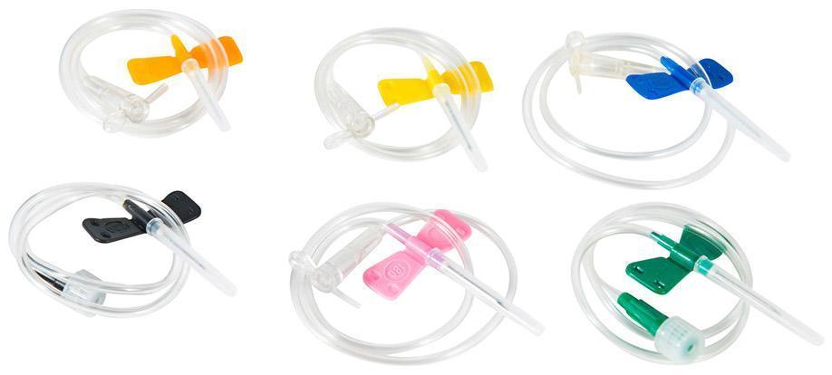 Система 24G для вливания в малые вены с иглой-бабочкой, фото 2
