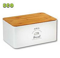 Хлебница металлическая с бамбуковой крышкой. Kesper 18045 63