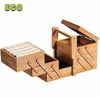 Коробка для шитья. Бамбук. Kesper. 58710