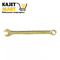 Ключ комбинированный, 8 мм, желтый цинк// Сибртех