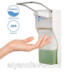 Локтевой дозатор в комплекте с евро флаконом 1 литр.