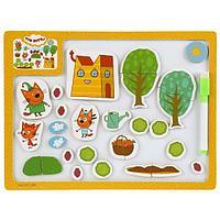 Игрушка деревянная БУРАТИНО Доска для рисования «Три кота. На ферме»