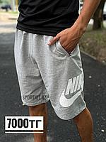 Шорты Nike серые трикотаж 2376